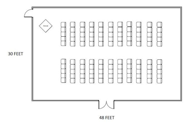 Floor plan - chair setup in Commonwealth Room