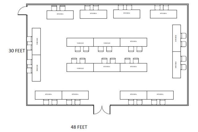Floor plan - Resource fair setup in the Commonwealth Room
