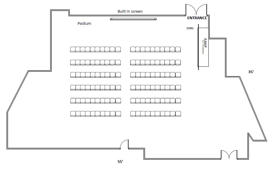 Runk Green Room chair floor plan
